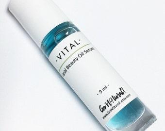 VITAL: Facial Beauty Oil Serum. Facial Serum. Facial Oil. Blue Tansy. Moisturizer. Skincare.