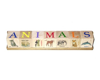 Illustrated Block Set - ANIMALS