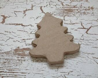 Paper Mache Ornament - Unfinished Paper Mache Tree - Christmas Ornament