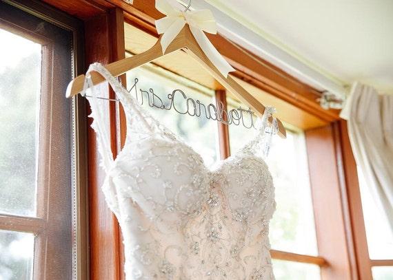 Wedding hanger bride hanger wedding dress hanger bridal