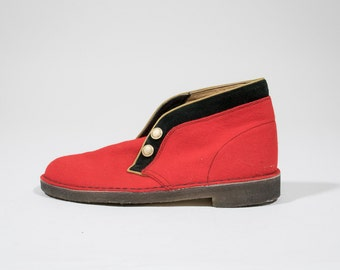 CLARKS - Leather and wool shoes