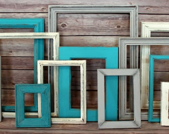 Farmhouse Decor, Fixer Upper, Rustic Home Decor, Picture Frame Set, Farmhouse, Picture Frames, Beach Wall Decor, Beach Wedding, Wedding