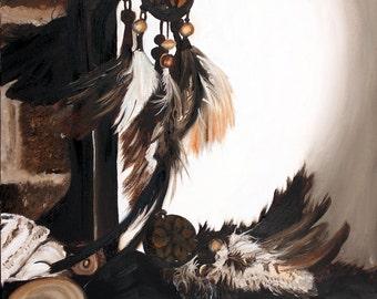 Dream Catcher Painting, Dreamcatcher still life, Still-Life Art, Professional Painting, Oil Painting, Decorative Artwork