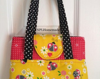 Tote Bag Purse Lady BugToddler Little Girl Dress Up Play Purse Gift
