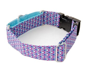 "Purple Heart Dog Collar - 5/8"" - 2"" Widths - Caninus Collars"