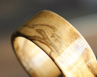 Wood Ring, Wooden Ring, Bentwood Ring, Wood Wedding Band, Wood Wedding Ring, Ash Burl, Jewelry, Wood Gift, Gift For Men, Mens Ring