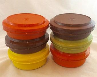 Vintage Tupperware Seal N Serve Bowls, Tupperware Harvest Bowls and Lids x 6