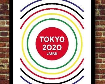 Japan Tokyo 2020 Sports Decoration Poster
