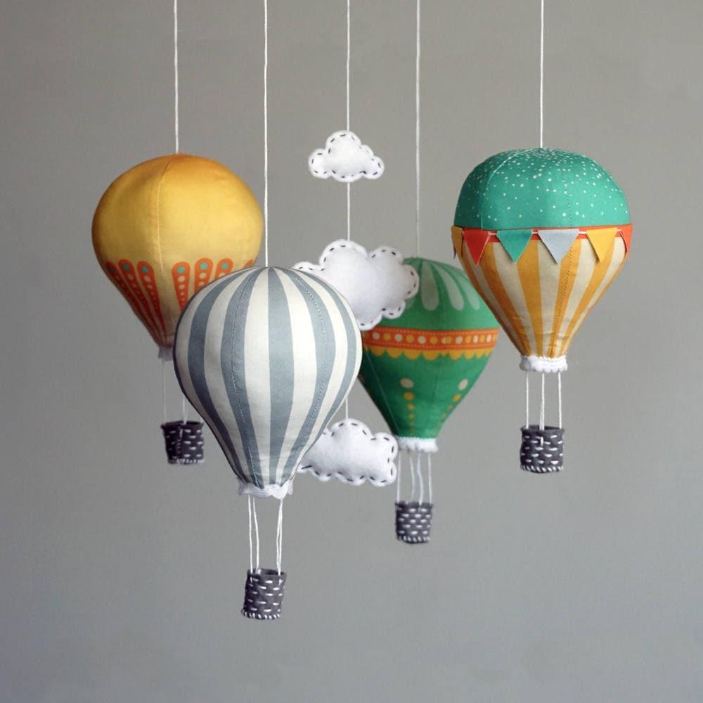 DIY baby mobile kit hot air balloon kit modern nursery