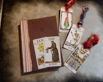 Tarot Book, Handmade Tarot Book, Fortune Telling, Fortune Teller, Mystic Book, Tarot Cards, Bookbinding, Junk Journal, Diary, Sketch Book,