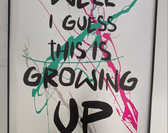 Blink 182 etsy blink 182 lyric poster bookmarktalkfo Image collections