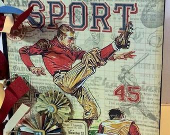 Baseball Scrapbook chipboard album graphic 45 Good Ol' Sport