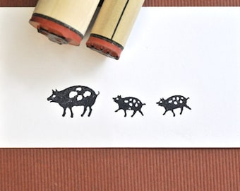 Spotted Pigs Rubber Stamp Set