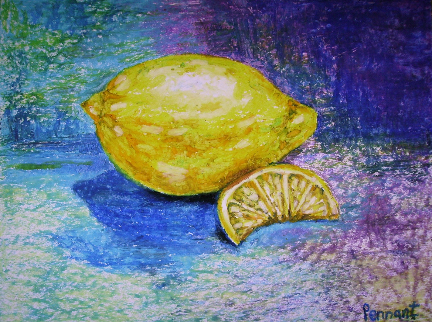Lemon Drawing Fruit Drawing Fruit Art Kitchen Art Small
