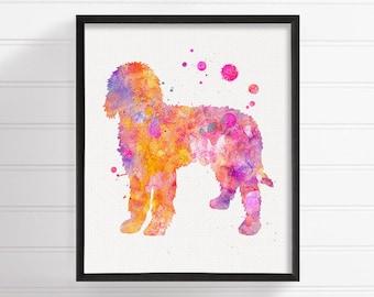 Watercolor Goldendoodle - Goldendoodle Art - Goldendoodle Print - Goldendoodle Poster - Dog Wall Art - Dog Lover Gift, Golden Doodle,  Art