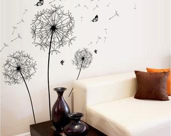 Dandelion Wall Decal, Living Room Decor, Wall Art, Wall Decoration, Wall  Sticker, Home Decor, Room Decoration, Home Decoration