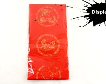 Free Shipping Chinese Calligraphy Material 17x114cm Red Xuan Paper Couplets + Horizontal Scroll MLZJ / 5 Sets 0008C