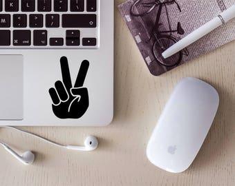 Peace Sign Sticker - Peace Sign Fingers - Peace Sticker - Peace Sign - Peace Fingers Sticker - World Peace - Peace Sticker Car - Peace Decal