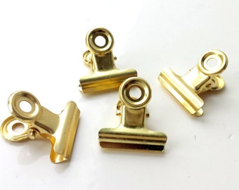 Gold binder clips | 3 different sizes | planner clips | paper clips