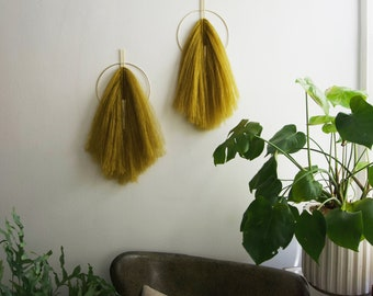 Mohair FRINGED WALL HANGING