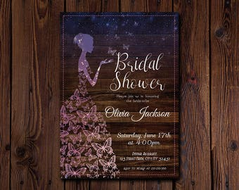 Bride Bridal Shower Invitation