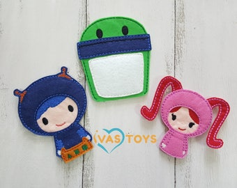 Umizoomi Finger Puppets \ Best Friend Umizoomi Team Educational Gift for Boy \ Toddler Learning Toy \ Felt Finger Puppets