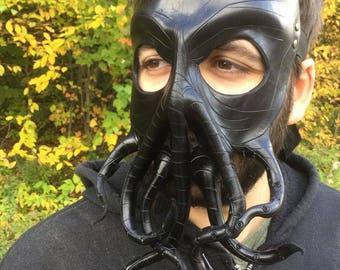 Black Cthulhu mask leather cthulhu mask