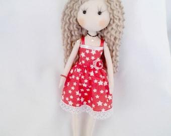 poupée fait main poupée de chiffon textile doll POUPEE collection poupée OOAK