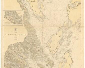Old calais map Etsy
