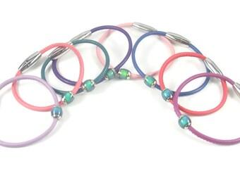 Childrens Mood Bracelet, Kids Leather Bracelet, Childrens Leather Jewelry, Kids Mood Bracelet, Color Changing Jewelry, Mood Bead