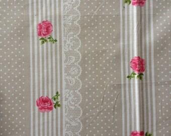 coupon fabric patchwork 50 X 50 cm / beige lace