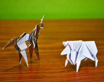 Gaff's Blade Runner Origami Unicorn and/or Sheep - Individual Origami Models