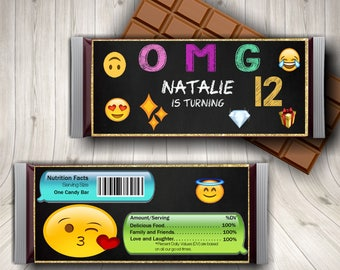 Emoji Party, Emoji Birthday, Candy Bar Wrapper, Emoji Party Favors, Girl Emoji Party, Emoji Faces, Emoji Icons, Emoji Theme Party, Emoticons