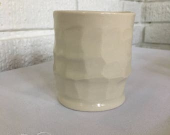 Carved Porcelain Wine/Whiskey Cup