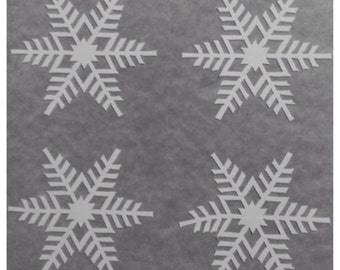 "4 1"" Vinyl Snowflake Decals for the Holidays- Christmas Winter Decorations - For Windows, Door, Wall, Christmas Stickers"