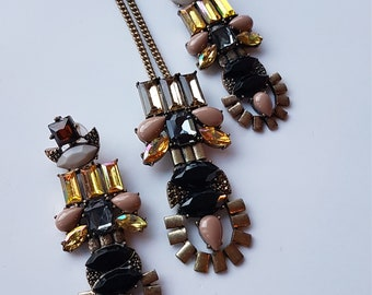 Rhinestones Necklace and Earrings Set