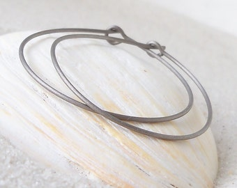 Hoop Earrings for Sensitive Ears - Pure Titanium - Hypoallergenic - Hoop Earrings - Pure Titanium Earrings - Three Sizes Available