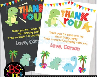 Dinosaur Party Thank You Card