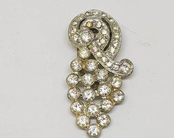 Dress clip rhinestone dress clip pretty glittering rhinestones gift for her birthday gift 1920 1940s