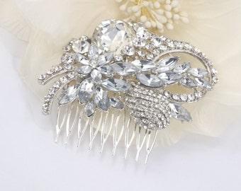 Graceful Delight - Austrian Rhinestone Bridal Hair Comb