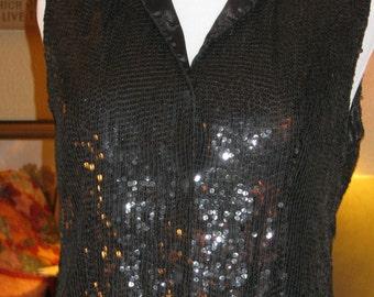 Black Sequined  Vest!!!  SPECIAL PRICE!!!!!!!
