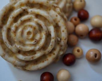 Honey Vanilla Chamomile Homemade Soap - Rose Bar