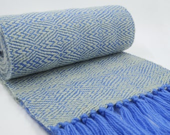 Hand Woven Woollen Scarf, 100% Pure Australian Merino, Pure Wool Scarf