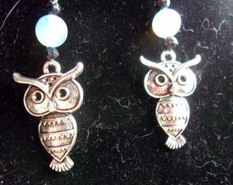 Owl and Opalite Earrings