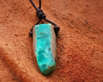 Chrysoprase gemstone pendant,green