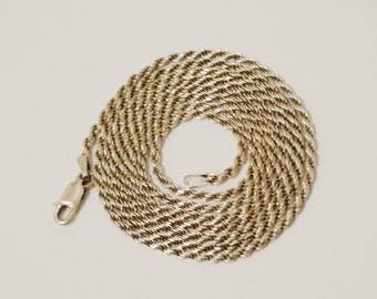 """Vintage 925 Sterling Made in Italy 9 grams weight 30"""" inch Rope Chain."""