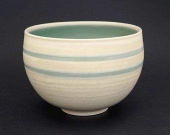 Porcelain bowl, turquoise bowl, ceramic bowl, handmade, pottery bowl, turquoise ceramic bowl