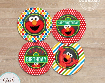Elmo cupcake toppers Etsy