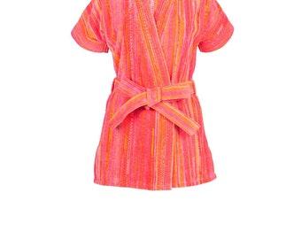 Orange Shadows Beach Kimono
