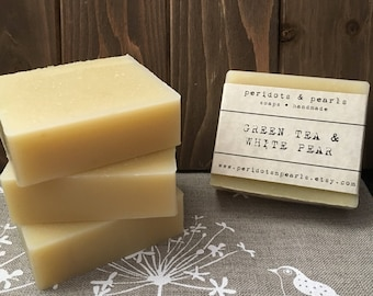 Green Tea & White Pear Cold Processed Handmade Soap